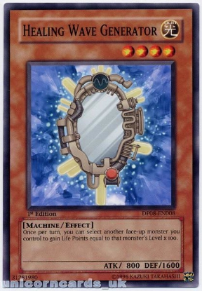 Picture of DP08-EN008 Healing Wave Generator 1st Edition Mint YuGiOh Card