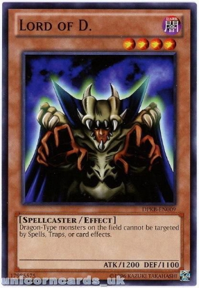 Picture of DPKB-EN009 Lord of D. UNL Edition Mint YuGiOh Card