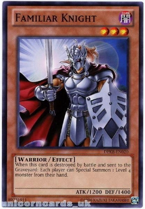 Picture of DPKB-EN020 Familiar Knight UNL Edition Mint YuGiOh Card