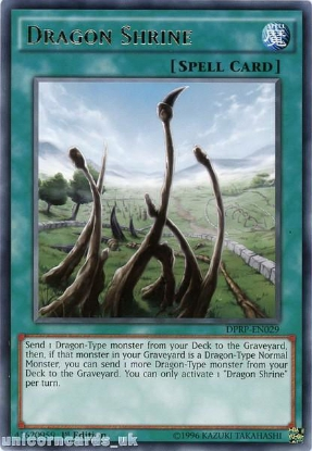 Picture of DPRP-EN029 Dragon Shrine Rare 1st edition Mint YuGiOh Card