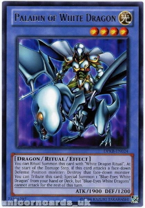 Picture of DPKB-EN024 Paladin of White Dragon Rare UNL Edition YuGiOh Card