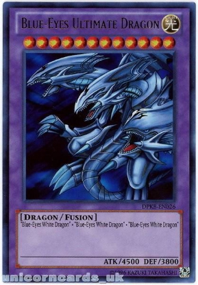 Picture of DPKB-EN026 Blue-Eyes Ultimate Dragon Ultra Rare UNL Edition YuGiOh Card