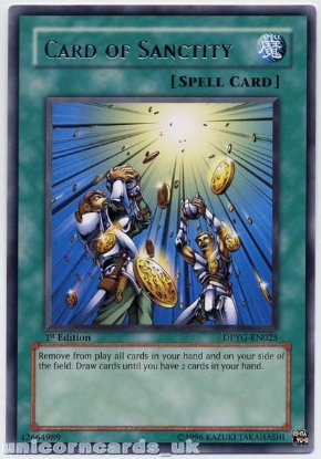 Picture of DPYG-EN025 Card of Sanctity Rare 1st Edition Mint YuGiOh Card