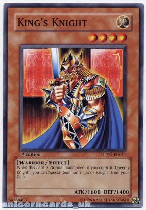 Picture of DPYG-EN011 King's Knight 1st Edition Mint YuGiOh Card