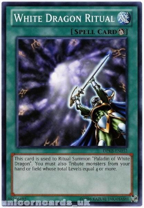 Picture of DPKB-EN032 White Dragon Ritual UNL Edition Mint YuGiOh Card