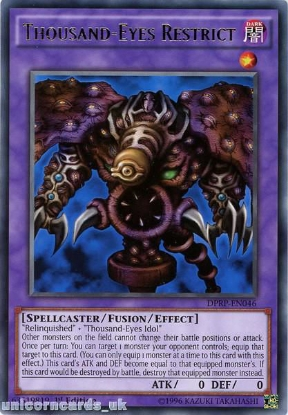 Picture of DPRP-EN046 Thousand-Eyes Restrict Rare 1st edition Mint YuGiOh Card