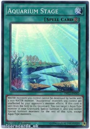 Picture of DRL2-EN042 Aquarium Stage Super Rare 1st edition Mint YuGiOh Card