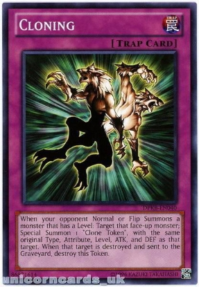 Picture of DPKB-EN040 Cloning UNL Edition Mint YuGiOh Card