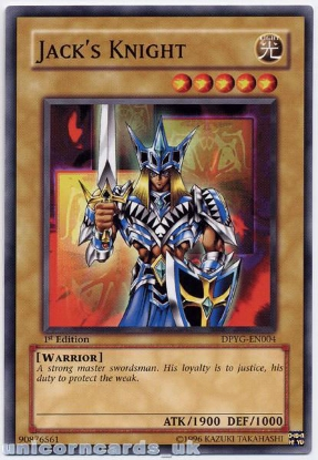 Picture of DPYG-EN004 Jack's Knight 1st Edition Mint YuGiOh Card