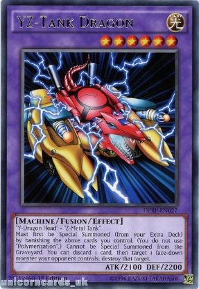 Picture of DPRP-EN027 YZ-Tank Dragon Rare 1st edition Mint YuGiOh Card