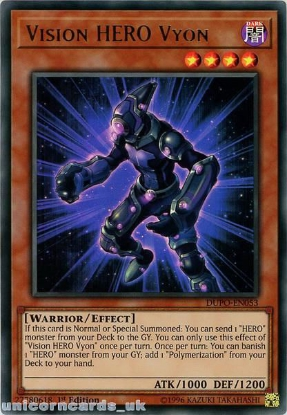 Picture of DUPO-EN053 Vision HERO Vyon Ultra Rare 1st Edition Mint YuGiOh Card
