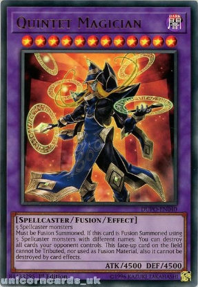 Picture of DUPO-EN040 Quintet Magician Ultra Rare 1st Edition Mint YuGiOh Card