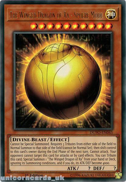 Sphere Mode DUPO-EN045 Ultra Rare 1st Edition Yu-Gi-Oh The Winged Dragon of Ra