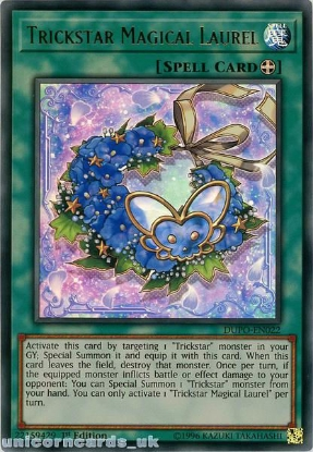 Picture of DUPO-EN022 Trickstar Magical Laurel Ultra Rare 1st Edition Mint YuGiOh Card