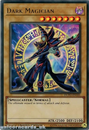 Picture of DUPO-EN101 Dark Magician Ultra Rare Limited Edition Mint YuGiOh Card