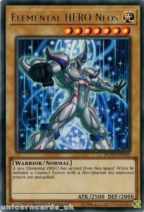 Picture of DUPO-EN102 Elemental HERO Neos Ultra Rare Limited Edition Mint YuGiOh Card