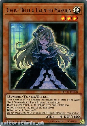 Picture of DUPO-EN078 Ghost Belle & Haunted Mansion Ultra Rare 1st Edition Mint YuGiOh Card