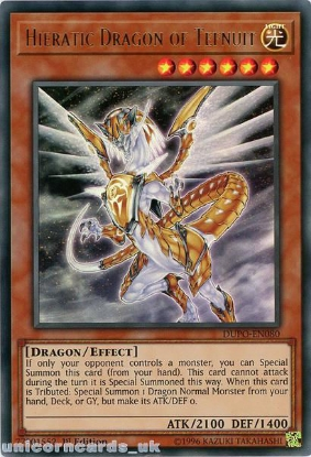 Picture of DUPO-EN080 Hieratic Dragon of Tefnuit Ultra Rare 1st Edition Mint YuGiOh Card