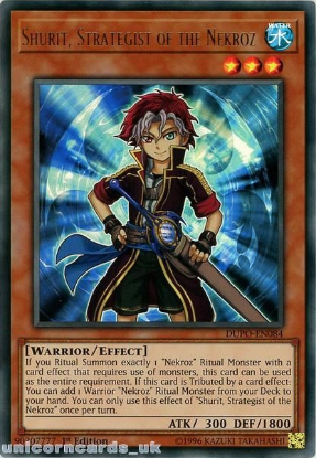 Picture of DUPO-EN084 Shurit, Strategist of the Nekroz Ultra Rare 1st Edition Mint YuGiOh Card