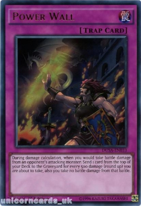 Picture of DUSA-EN033 Power Wall Ultra Rare 1st Edition Mint YuGiOh Card