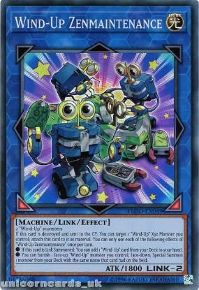Picture of FLOD-EN049 Wind-Up Zenmaintenance Super Rare UNL Edition Mint YuGiOh Card