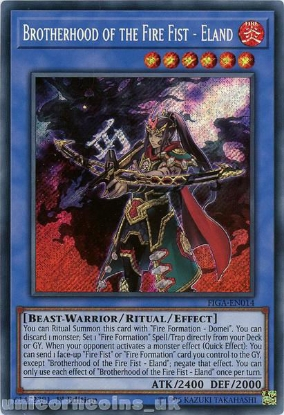 Picture of FIGA-EN014 Brotherhood of the Fire Fist - Eland Secret Rare 1st Edition Mint YuGiOh Card