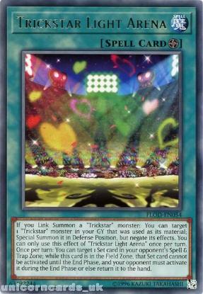Picture of FLOD-EN054 Trickstar Light Arena Rare UNL Edition Mint YuGiOh Card