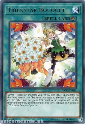 Picture of FLOD-EN055 Trickstar Bouquet Rare UNL Edition Mint YuGiOh Card