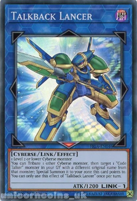 Picture of FIGA-EN046 Talkback Lancer Super Rare 1st Edition Mint YuGiOh Card