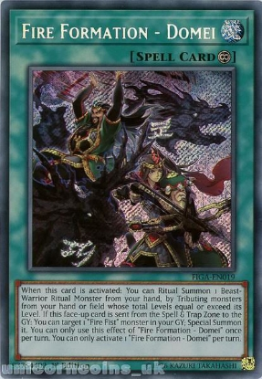 Picture of FIGA-EN019 Fire Formation - Domei Secret Rare 1st Edition Mint YuGiOh Card