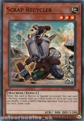 Picture of FIGA-EN051 Scrap Recycler Super Rare 1st Edition Mint YuGiOh Card