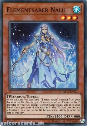 Picture of FLOD-EN021 Elementsaber Nalu Super Rare UNL Edition Mint YuGiOh Card