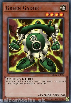 Picture of FIGA-EN006 Green Gadget Super Rare 1st Edition Mint YuGiOh Card