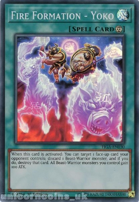 Picture of FIGA-EN030 Fire Formation - Yoko Super Rare 1st Edition Mint YuGiOh Card