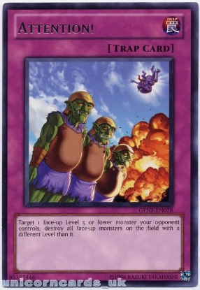 Picture of GENF-EN078 Attention! Rare Mint YuGiOh Card