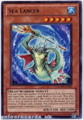 Picture of GENF-EN081 Sea Lancer Rare Mint YuGiOh Card