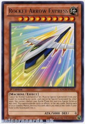 Picture of GAOV-EN016 Rocket Arrow Express Rare 1st Edition Mint YuGiOh Card