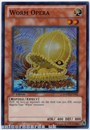 Picture of HA02-EN052 Worm Opera Super Rare 1st Edition Mint YuGiOh Card