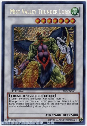 Picture of HA02-EN060 Mist Valley Thunder Lord Secret Rare 1st Edition Mint YuGiOh Card