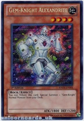 Picture of HA05-EN004 Gem-Knight Alexandrite Secret Rare 1st Edition Mint Yu-Gi-Oh! Card