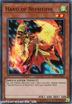 Picture of HISU-EN013 Hand of Nephthys Super Rare 1st Edition Mint YuGiOh Card