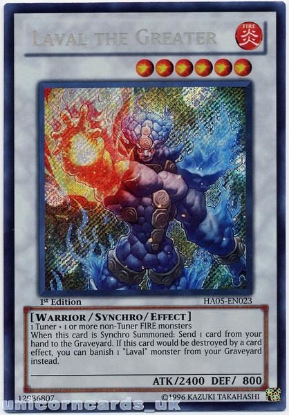 Picture of HA05-EN023 Laval the Greater Secret Rare 1st Edition Mint Yu-Gi-Oh! Card