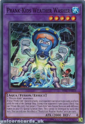Picture of HISU-EN018 Prank-Kids Weather Washer Super Rare 1st Edition Mint YuGiOh Card