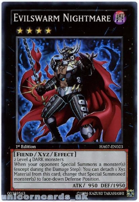 Picture of HA07-EN023 Evilswarm Nightmare Super Rare 1st edition Mint YuGiOh Card