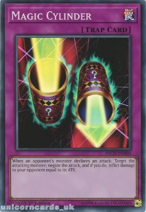 Picture of INCH-EN060 Magic Cylinder Super Rare 1st Edition Mint YuGiOh Card