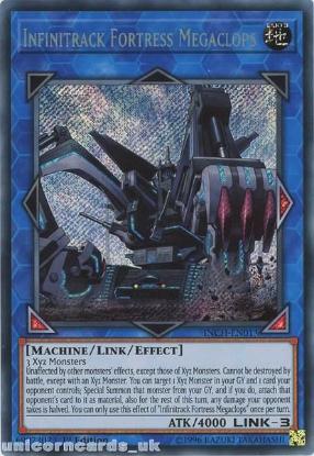 Picture of INCH-EN011 Infinitrack Fortress Megaclops Secret Rare 1st Edition Mint YuGiOh Card
