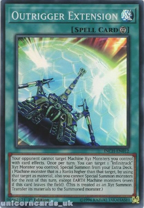 Picture of INCH-EN012 Outrigger Extension Super Rare 1st Edition Mint YuGiOh Card