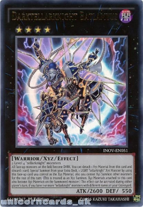 Picture of INOV-EN051 Darktellarknight Batlamyus Ultra Rare 1st edition Mint YuGiOh Card