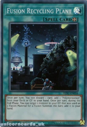 Picture of HISU-EN058 Fusion Recycling Plant Super Rare 1st Edition Mint YuGiOh Card