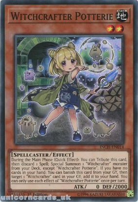 Picture of INCH-EN014 Witchcrafter Potterie Super Rare 1st Edition Mint YuGiOh Card